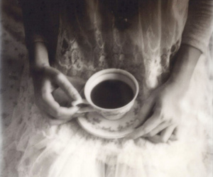 black and white, coffe, and film image