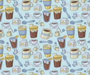background, pattern, and tea image