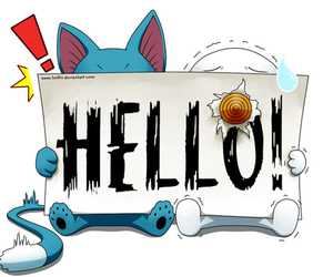 fairy tail, happy, and hello image