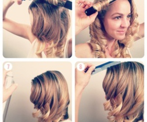 curls, diy, and do it yourself image