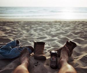 beach, peace, and photo image