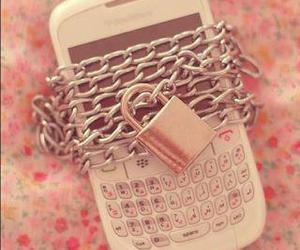 lock, phone, and pink image