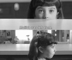 alone, black and white, and little girl image