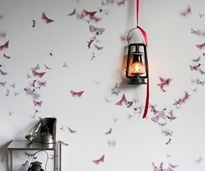 art, lamp, and butterflies image