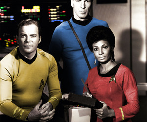 captain kirk, TOS, and uhura image