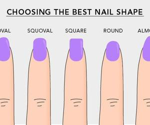 nails, shape, and oval image
