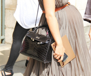 pregnant, fashion, and dress image