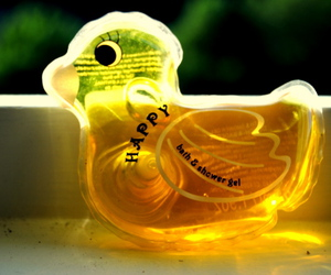 duck, happy, and soap image