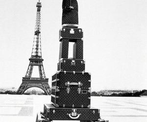 paris, eiffel tower, and Louis Vuitton image
