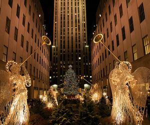 angel, christmas, and light image
