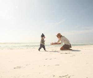 baby, beach, and creative image