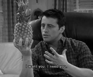 black and white, funny, and pineapple image