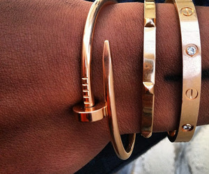 bracelet, gold, and cartier image