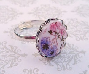 ring, floral, and jewelry image