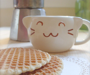 cute, food, and cat image