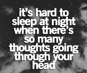 sleep, thoughts, and night image