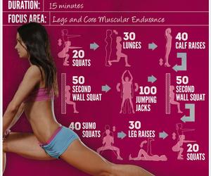 fitness, squats, and leg raises image