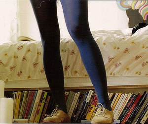 book, bed, and legs image