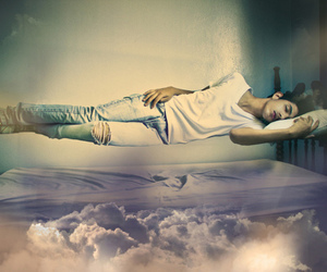 boy, Dream, and clouds image