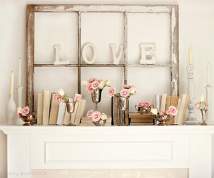 pink, love, and flowers image