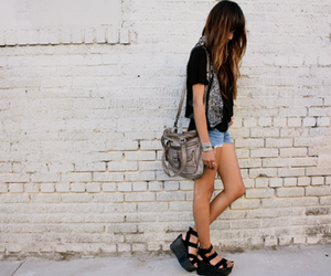 bag, girl, and heels image