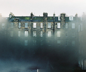 architecture, fog, and house image