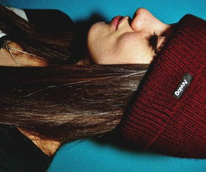 35mm, beanie, and brunette image