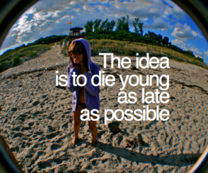 young, die, and beach image