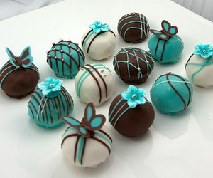 chocolate, sweet, and blue image