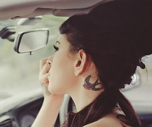 tattoo, girl, and ink image