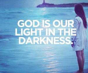 light, Darkness, and god image