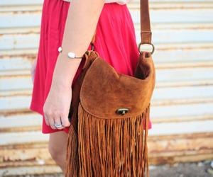 fashion, bag, and brown image