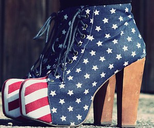 america, love, and high heels image
