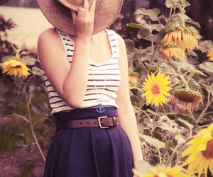 sunflowers and vintage image