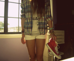 girl, converse, and all star image