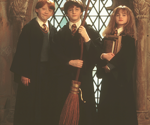 harry potter, hermione granger, and harry image