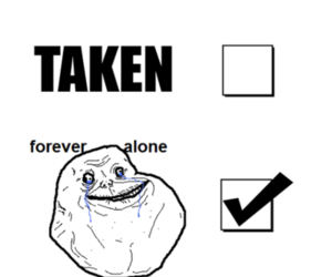 forever alone, funny, and single image