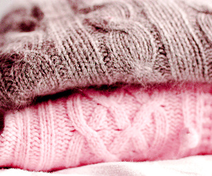 sweater, pink, and winter image