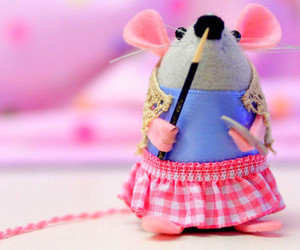 mouse, pink, and cute image