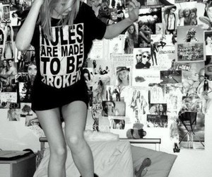 girl, rules, and black and white image