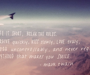 quote, mark twain, and life image