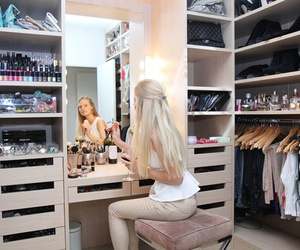 clothes, closet, and makeup image