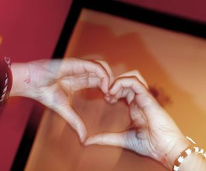 hand, hands, and love image