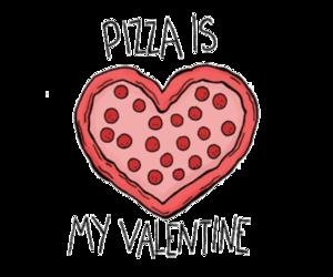 pizza, valentine, and love image