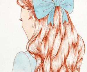 hair, bow, and princess image