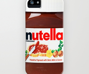 nutella, iphone, and chocolate image