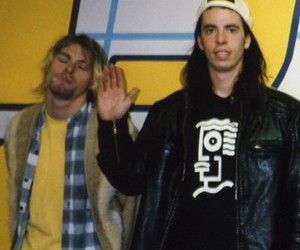 dave grohl, kurt cobain, and legend image