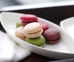 food, macarons, and yummy image