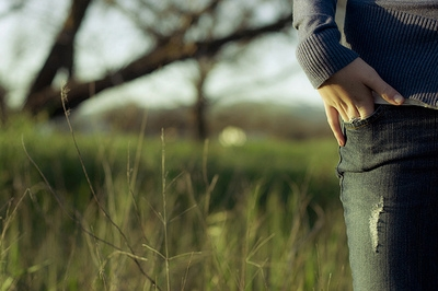 bokeh, jeans, and light+ image
