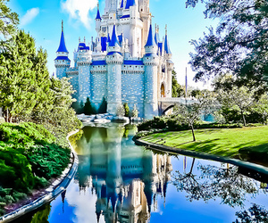 castle, disney, and beautiful image
